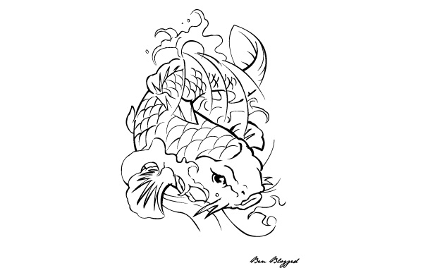 Free Coi Fish - Tattoo