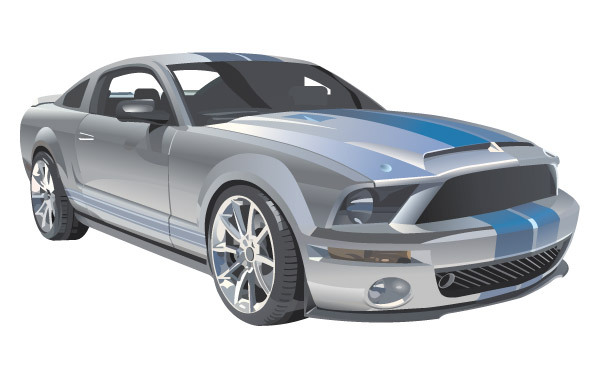 Free Vector Mustang