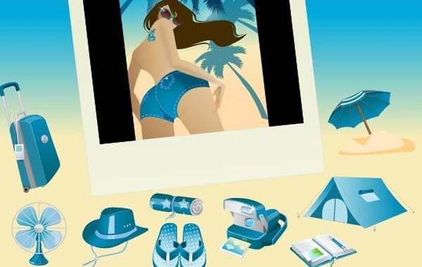 Free Blue Vector Summer Vista Icons