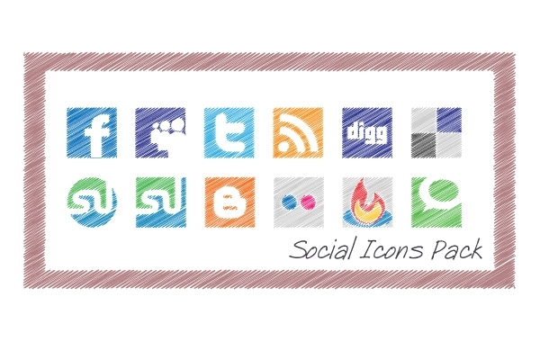 Free Scribble Social Icons Pack
