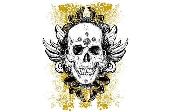 Free Wicked vector skull illustration