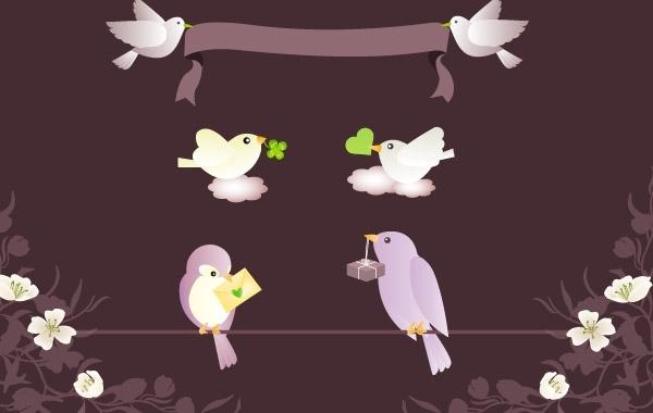 Free Birds Messages Vector Graphics