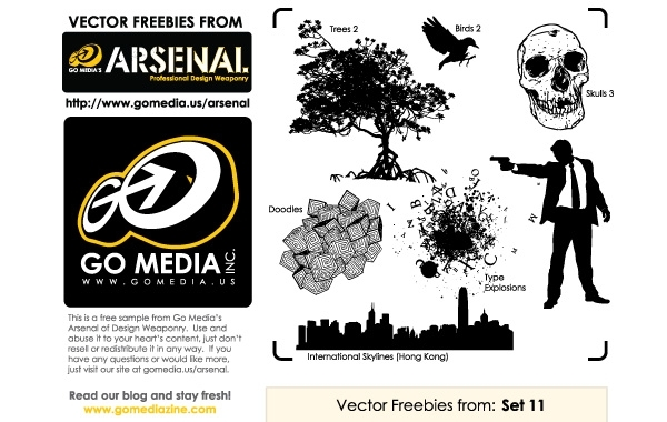 Free Go Media Vector Freebies from Set 11