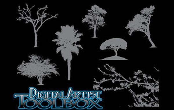 Free 7 Tree Silhouettes