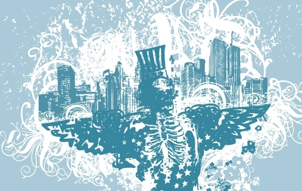 Free City of Angels vector illustration