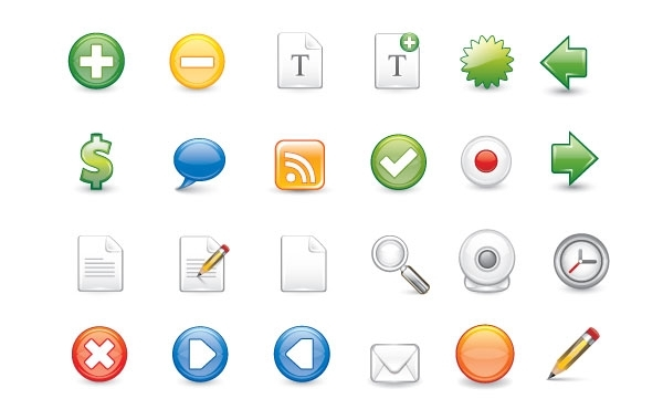 Free Free Vector Icon Set 1 - Containing 25 Icons