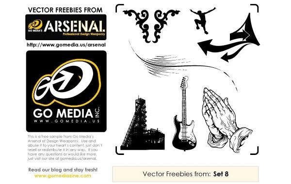 Free Vectors: Free Vectors: Set 8 Sampler | Go Media