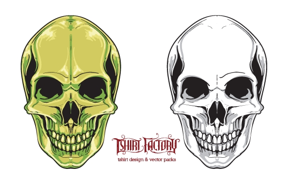 Free Vectors: Free skull vector | Tshirt Factory