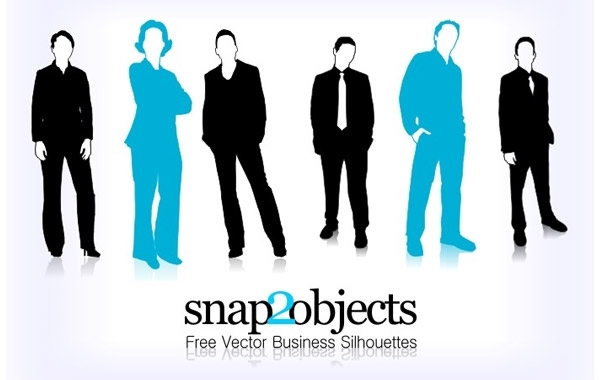 Free Free Vector Business Silhouettes