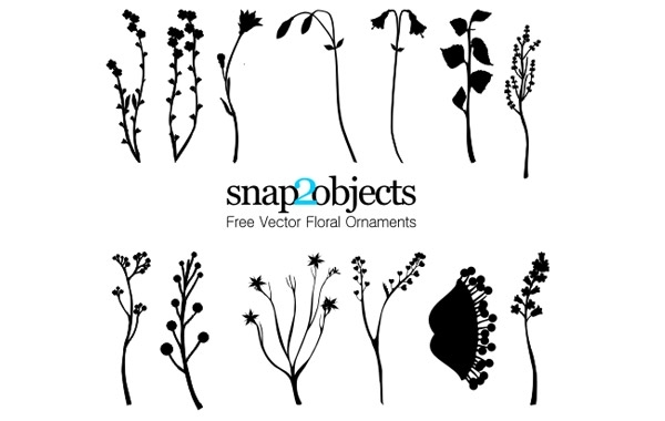 Free 13 Free Vector Foliage Ornaments Pack 01