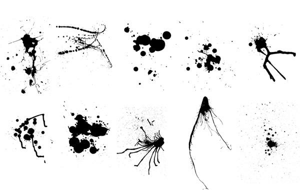 Free Vector Ink & Paint Splatters