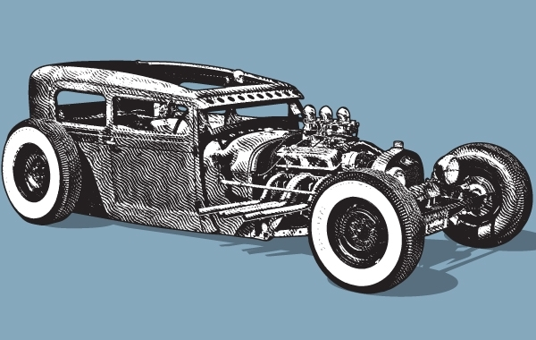 Free Hot Rod vintage car