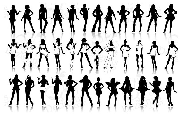 Free Sexy Girls Silhouettes