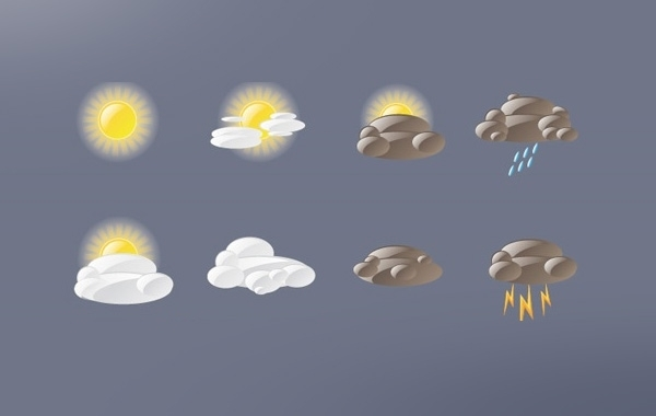 Free Vectors: Weather Icon Pack | Thomas Dufranne