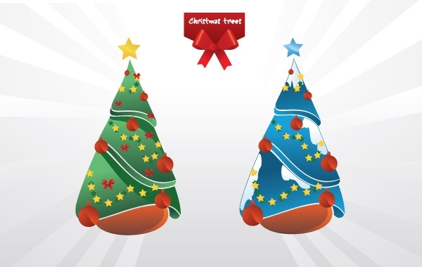 Free Christmas trees vector