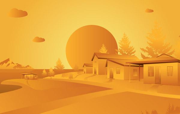 Free Orange Landscape