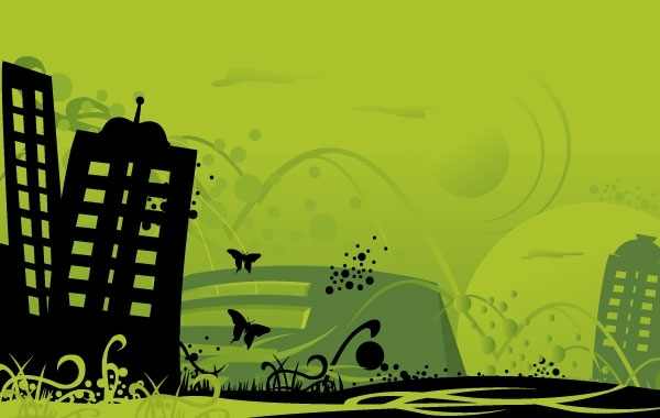 Free Green City Art