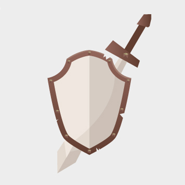 Free Free Vector Shield and Sword
