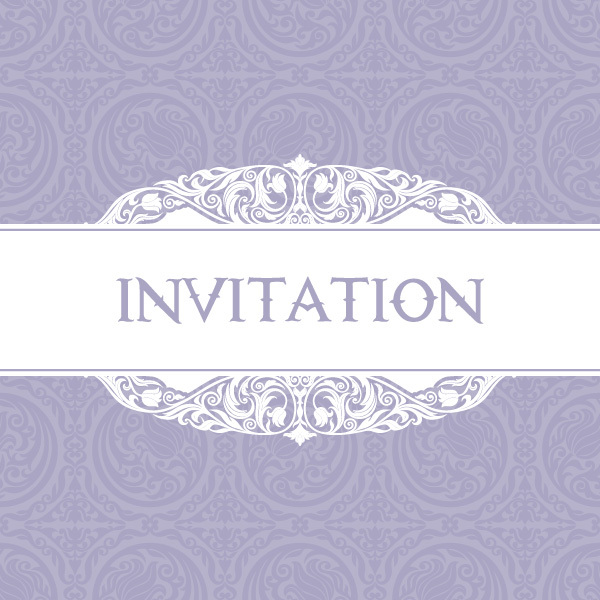Free Free Vector Purple Invitation