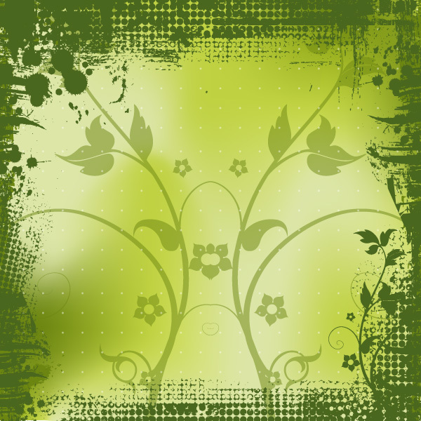 Free Halftone Green Spring Vector Background