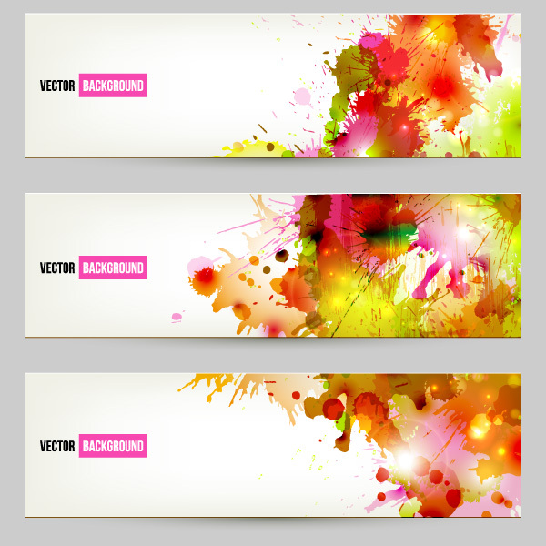 Free Free Vector Splatter Banners