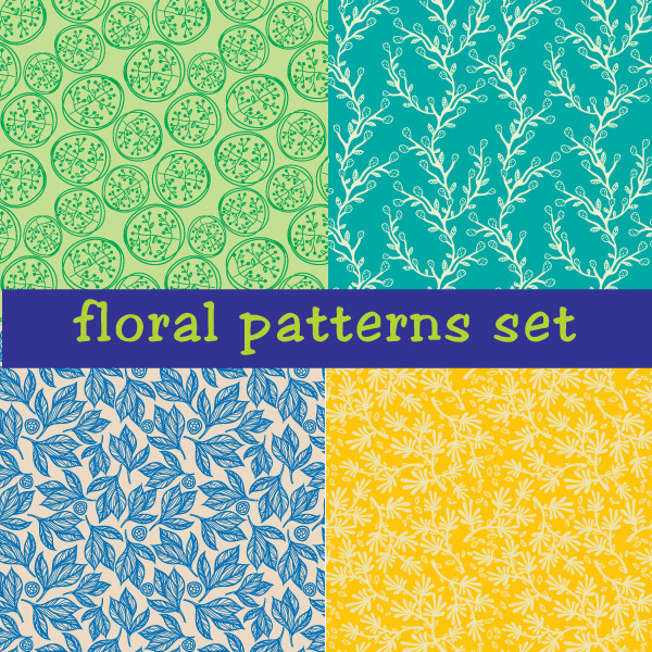 Free Seamless Floral Vector Patterns