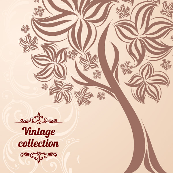 Free Free Abstract Vintage Tree Vector