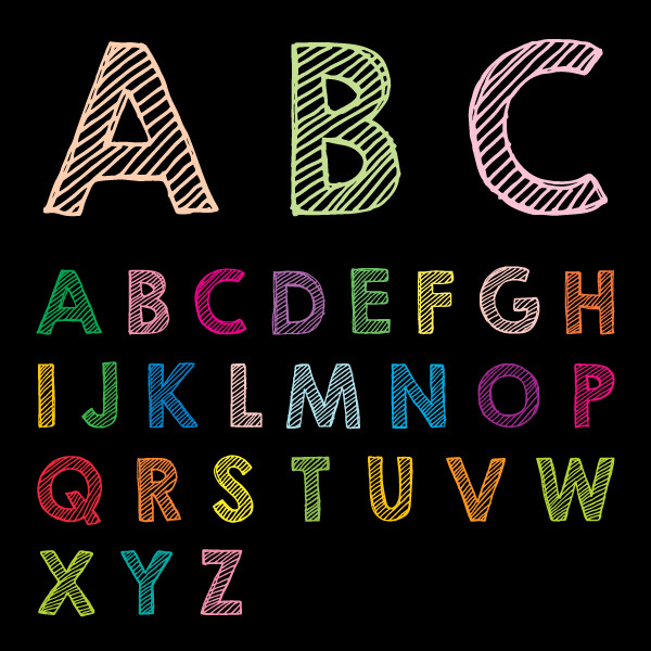 Free Free Chalk Drawn ABC Vector