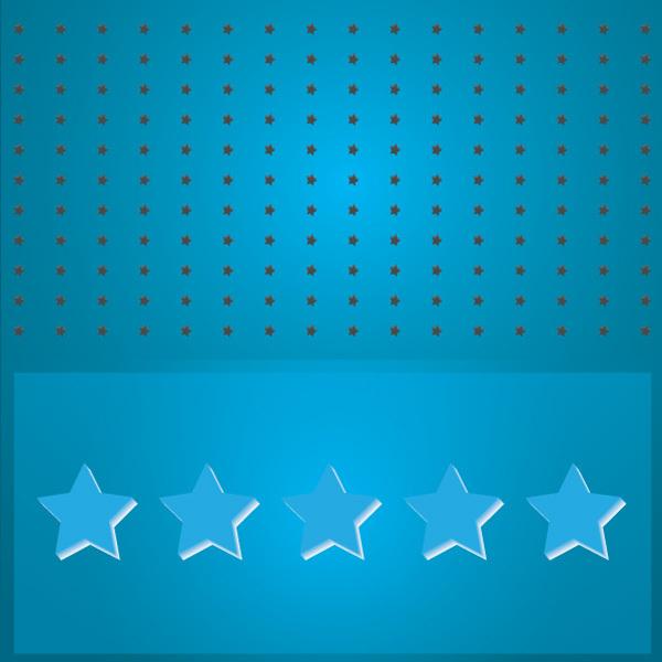 Free Blue Stars Vector