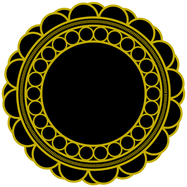 Free Free Circular Floral Vector Ornament