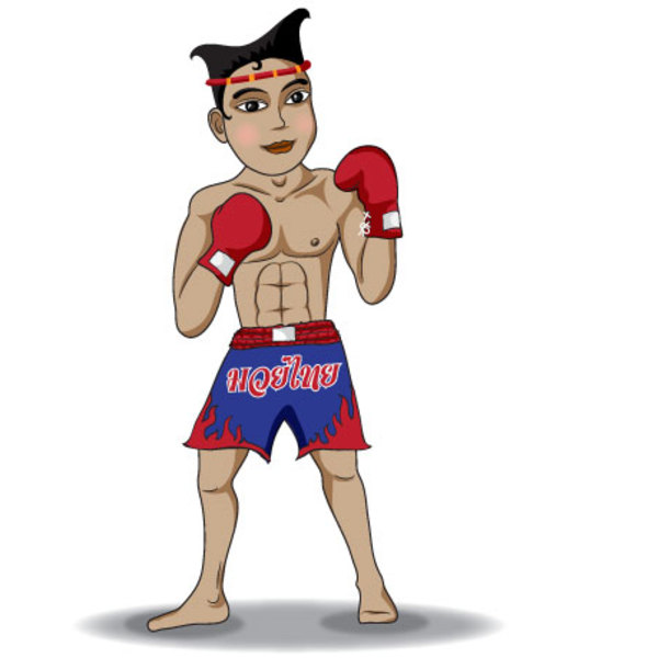 Free Free Thai Boxing Vector