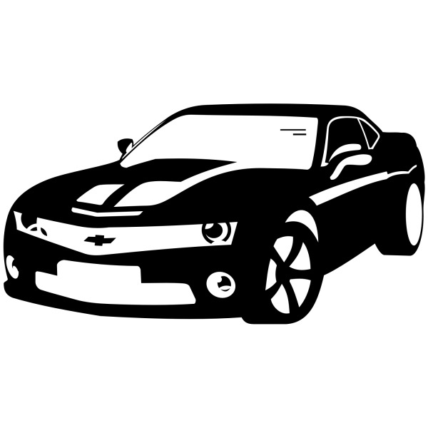 Free Free Vector Sports Car - Ð¡hevrolet Camaro Vector