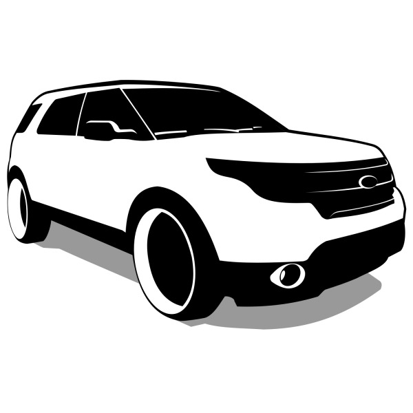 Free Free Vector SUV - Ford Explorer Vector