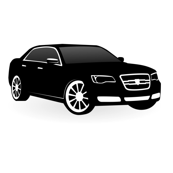 Free Free Vector Car - Chrysler 300c Vector