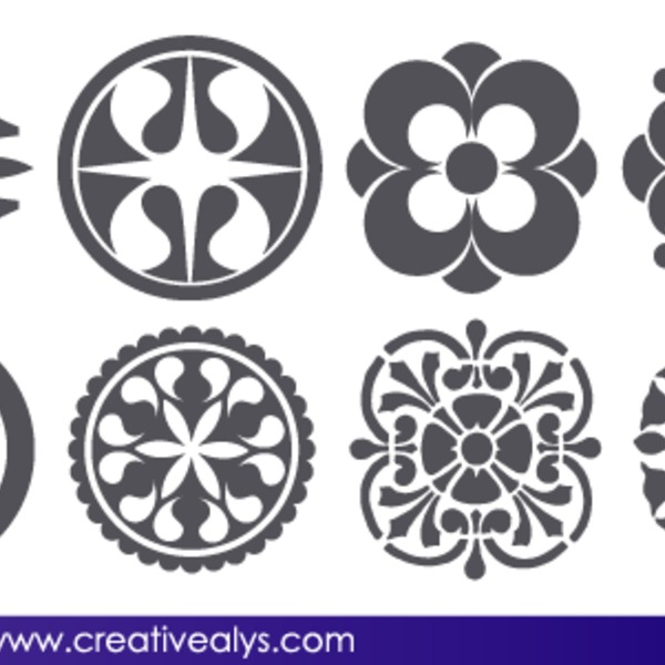 Free Free Vector Abstract Floral Design Elements