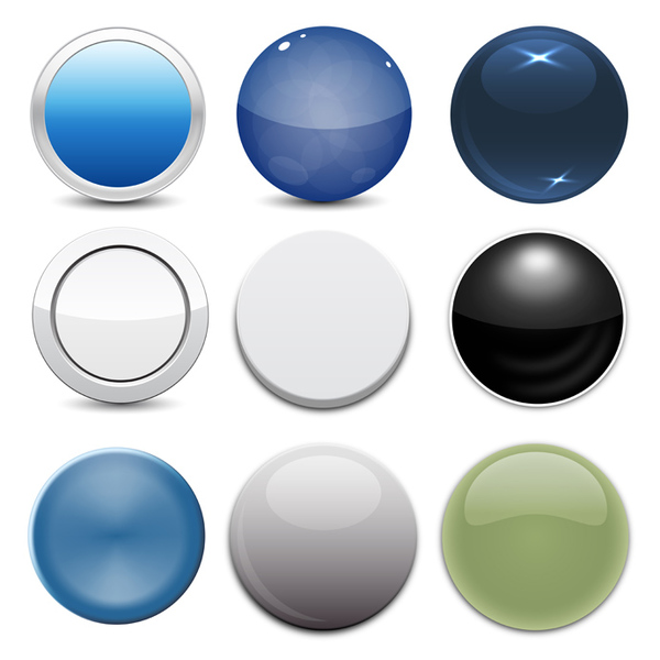 Free 9 Free Vector Circle Button Styles