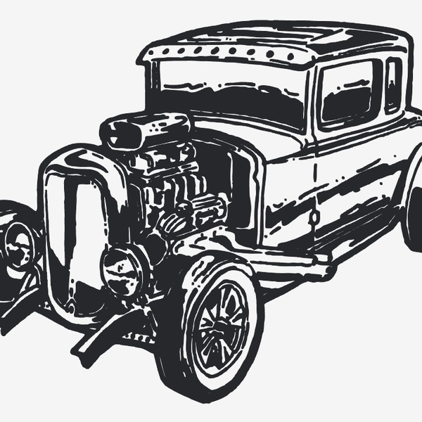 Free Free Vector Vintage Car Hot Rod