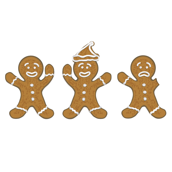 Free Free Vector Christmas Gingerbread Men