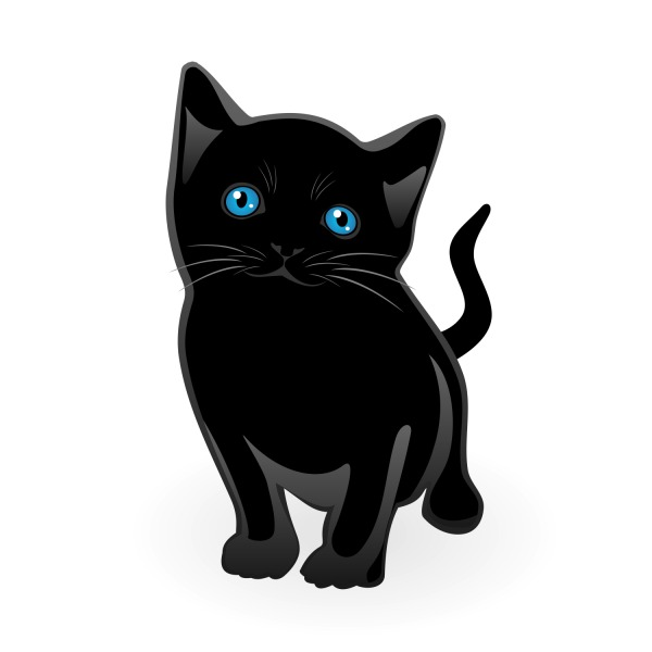 Free Free Vector Black Cat