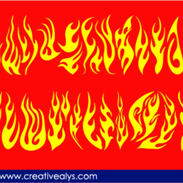 Free Creative Flames For Logo Design