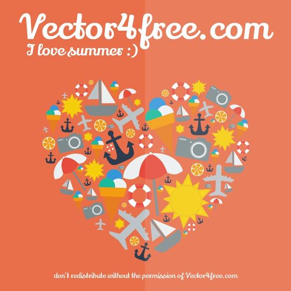 Free I Love Summer