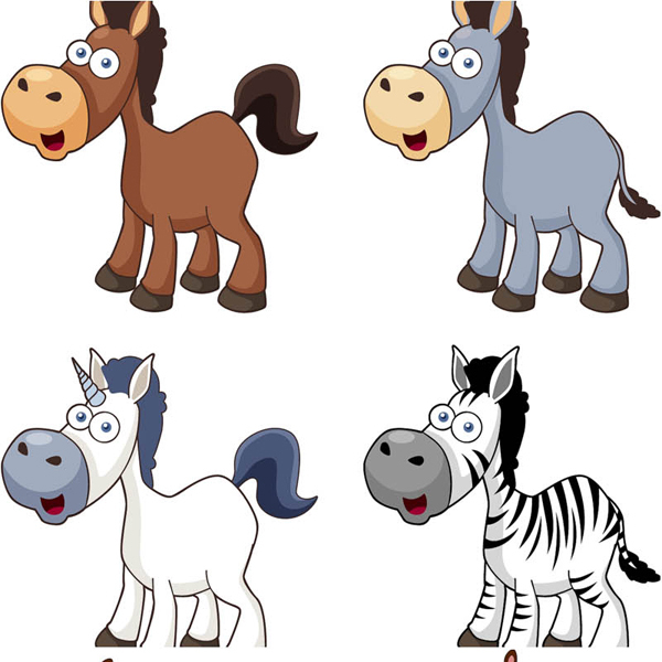 Free Cartoon Horse Vector Icons