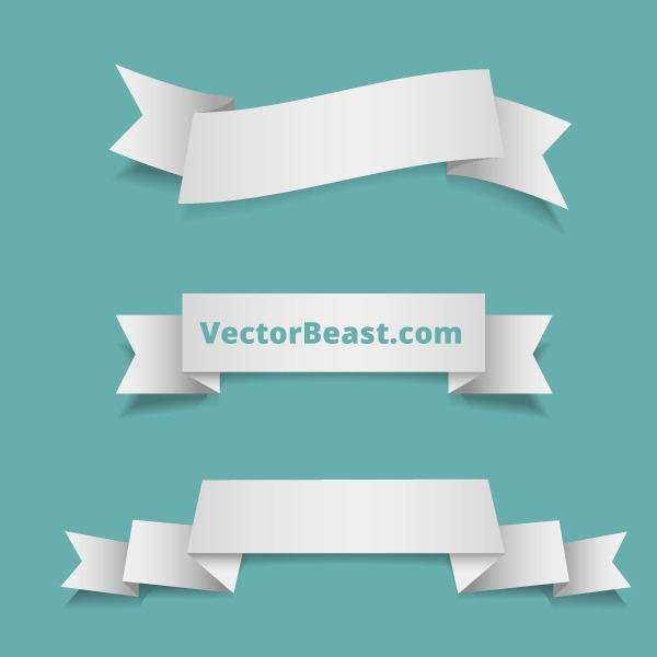 Free Vector Ribbons By VectorBeast
