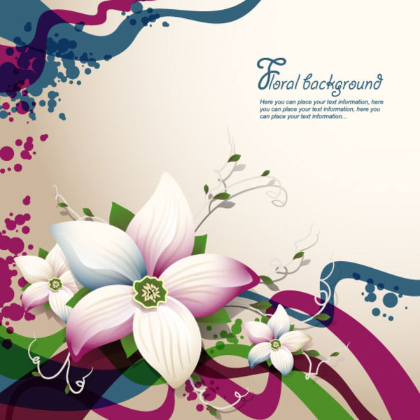 Free Free Vector Flower Background
