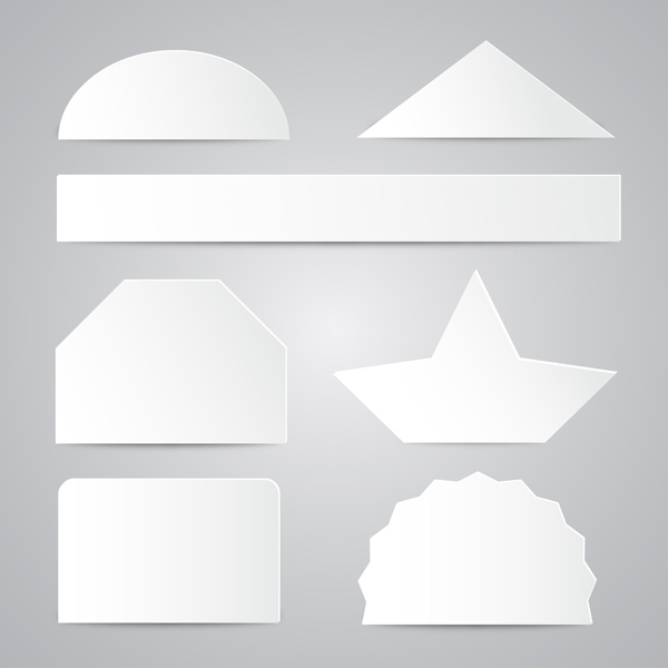 Free White Paper Shapes