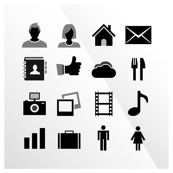 Free 16 IOS Tab Bar Vector Icons By IconBeast.com