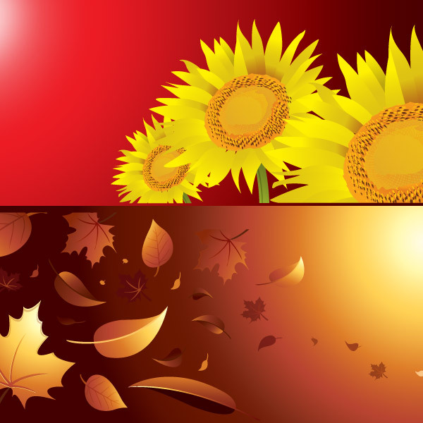Free Vectors: Autumn And Summer Season Background Vectors | Free Vector