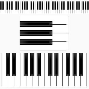 Free Piano Keyboard Illustration