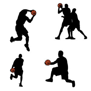 Free Basketball Players Silhouettes
