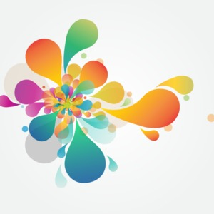 Abstract Flower Vector Art